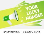 word writing text your lucky... | Shutterstock . vector #1132924145