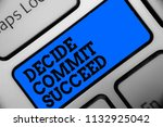 word writing text decide commit ... | Shutterstock . vector #1132925042