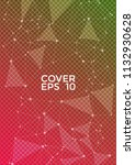 trendy cover page layout.... | Shutterstock .eps vector #1132930628