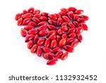 fresh cornel berries in the...   Shutterstock . vector #1132932452