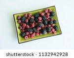fresh mixed berries | Shutterstock . vector #1132942928