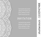 invitation or card templates...   Shutterstock .eps vector #1132947488