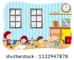children learning in a... | Shutterstock .eps vector #1132947878