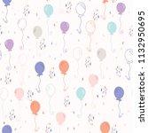 pastel party balloon vector... | Shutterstock .eps vector #1132950695