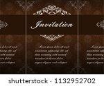 decorative frame in vintage... | Shutterstock .eps vector #1132952702