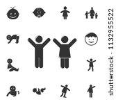 children icon. detailed set of... | Shutterstock .eps vector #1132955522
