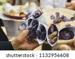 appetizers in a mediterranean... | Shutterstock . vector #1132956608