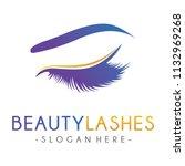 lash logo  luxury beauty eye... | Shutterstock .eps vector #1132969268