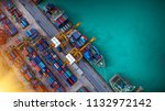 logistics and transportation of ... | Shutterstock . vector #1132972142