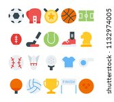 sport icons in for any purposes.... | Shutterstock .eps vector #1132974005