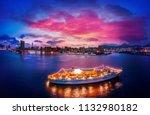 hong kong cityscape in magic... | Shutterstock . vector #1132980182