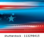 abstract bright blue and red... | Shutterstock .eps vector #113298415
