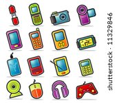 colorful handheld electronics... | Shutterstock .eps vector #11329846
