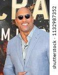 new york   jun 10  actor dwayne ... | Shutterstock . vector #1132987352