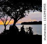 silhouette of sweetheart... | Shutterstock . vector #1132993955