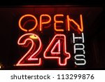 Neon Shining Signboard With...