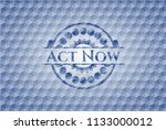 act now blue badge with... | Shutterstock .eps vector #1133000012