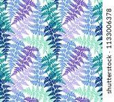 fern frond herbs  tropical... | Shutterstock .eps vector #1133006378