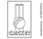abstract cricket label | Shutterstock .eps vector #1133021015