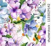purple and blue alstroemeria...   Shutterstock . vector #1133029142