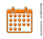 simple calendar icon. isolated...