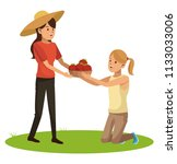 womens and gardening | Shutterstock .eps vector #1133033006