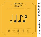 symbol of music  notes.... | Shutterstock .eps vector #1133033792