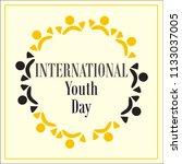 international youth day  logo   Shutterstock .eps vector #1133037005