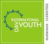 international youth day  logo | Shutterstock .eps vector #1133037032