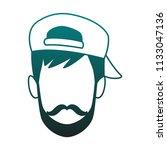 young man faceless cartoon blue ...   Shutterstock .eps vector #1133047136