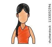 young woman faceless cartoon...   Shutterstock .eps vector #1133052596
