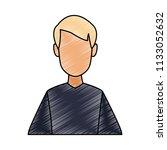 faceless man profile scribble   Shutterstock .eps vector #1133052632