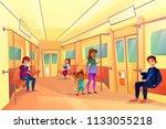 People In Subway Metro Vector...