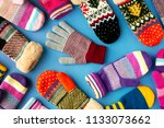 mittens and gloves are... | Shutterstock . vector #1133073662