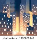 vector illustration of avenue... | Shutterstock .eps vector #1133083148