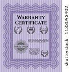 violet retro warranty... | Shutterstock .eps vector #1133093402