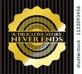 a true love story never ends... | Shutterstock .eps vector #1133093456
