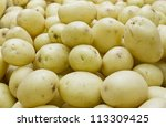 brushed or white potatoes | Shutterstock . vector #113309425