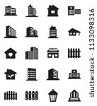 set of vector isolated black... | Shutterstock .eps vector #1133098316