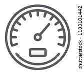 Speedometer Line Icon  Data And ...