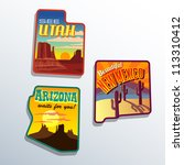 southwest united states arizona ... | Shutterstock .eps vector #113310412