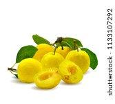 fresh  nutritious  tasty yellow ... | Shutterstock .eps vector #1133107292