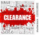 clearance sale word cloud... | Shutterstock .eps vector #1133110022