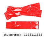 red adhesive  duct repair tape... | Shutterstock . vector #1133111888