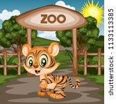 vector illustration of a zoo... | Shutterstock .eps vector #1133113385