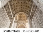 the arc de triomphe in paris as ... | Shutterstock . vector #1133128535