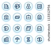 finance icons on blue buttons. | Shutterstock .eps vector #113312956