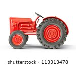 Vintage Tractor Isolated On A...