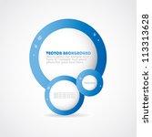stylish digital vector design.... | Shutterstock .eps vector #113313628
