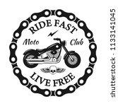 custom motorcycles club badge... | Shutterstock .eps vector #1133141045